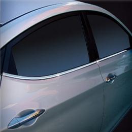 Накладки хромированные боковых окон нижние  для Hyundai Sonata NF (2005 - 2009)