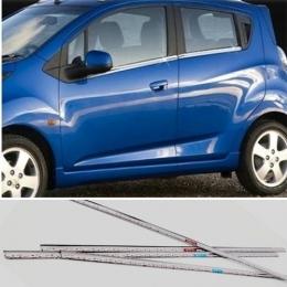 Накладки хромированные боковых окон нижние  для Chevrolet Spark (2011-)