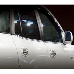 Накладки хромированные боковых окон нижние  для Hyundai Santa Fe (2006-2010)
