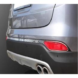 Накладки хромированные заднего бампера и рефлекторов для Santa Fe DM (2012 -)