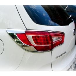 Накладки хромированные задних фар для Kia Sportage (2010-)