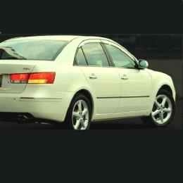 Дефлекторы окон хромированные для Hyundai Sonata NF (2005 - 2009)