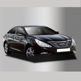 Накладки хромированные на передние фары для Hyundai Sonata YF (2010 - 2013)