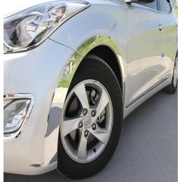 Накладки хромированные колесных арок для Hyundai Elantra HD (2006 - 2010)