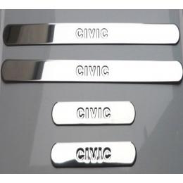 Накладки хромированные на пороги HONDA CIVIC седан (2006-)