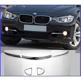 Накладки хромированные на передний бампер для BMW 3 (E90) (2005-2012)