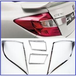 Накладки хромированные на задние фары HONDA CIVIC IX седан  2012-