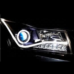 Передняя оптика для Chevrolet Cruze (2009-) Audi-Style V1  Black Neon