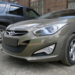 Защита радиатора Hyundai I40 2012- black PREMIUM