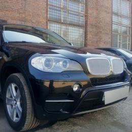 Защита радиатора BMW X5 2006-2013 / BMW X6 2008-2014- chrome PREMIUM