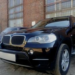 Защита радиатора BMW X5 2006-2013 / BMW X6 2008-2014- black PREMIUM