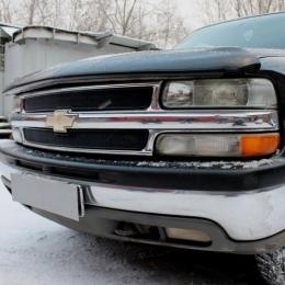 Защита радиатора Chevrolet Tahoe II 1999-2007 black PREMIUM