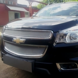 Защита радиатора Chevrolet Trailblazer 2013- (2 части) chrome PREMIUM