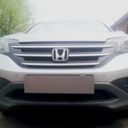 Защита радиатора Honda CR-V IV 2012- 2.0 black PREMIUM