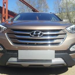 Защита радиатора Hyundai Santa Fe 2012- chrome PREMIUM
