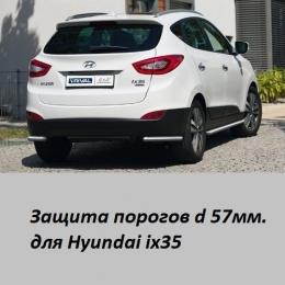 Защита порогов для Hyundai IX-35 (d57)