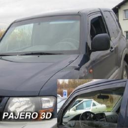 Дефлекторы окон Mitsubishi Pajero 2 3d
