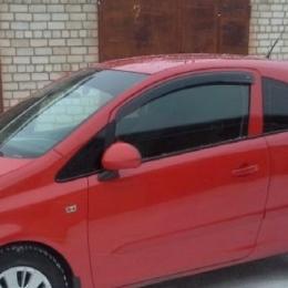 Дефлекторы окон Opel Corsa D 3d