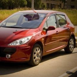Дефлекторы окон Peugeot 307