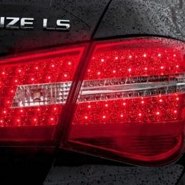 Задняя оптика для Chevrolet Cruze (2009-), Mercedes-Style,Black