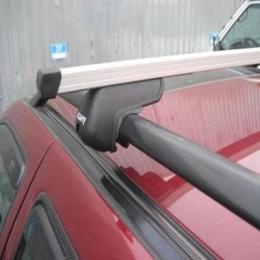 Багажник на крышу автомобиля на рейлинги (прямоугольная дуга)