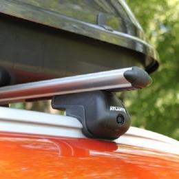 Багажник на крышу автомобиля на рейлинги (аэродинамическая дуга)