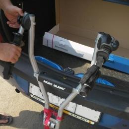 Велокрепление для перевозки двух велосипедов на фаркопе MontBlanc