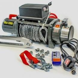 Лебедка ELECTRIC WINCH EW 12000 (12В) с синтетическим тросом