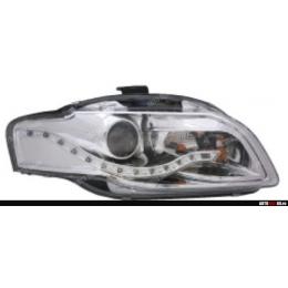 Передняя оптика для AUDI A4 (2004-2007)EAGLE EYES линзы, хром