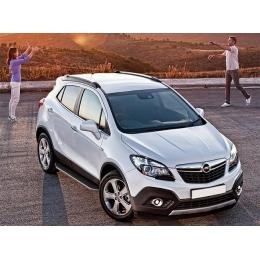 Пороги для Opel Mokka c площадкой (2012-)