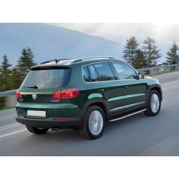 Пороги для Volkswagen Tiguan c площадкой (2008-)