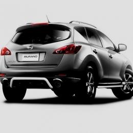 Защита заднего бампера для Nissan Murano скоба (d57)