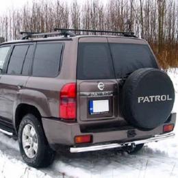 Защита заднего бампера для Nissan Patrol (d76) (2014-)
