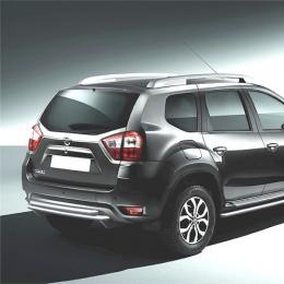 Защита заднего бампера для Nissan Terrano двойная (d57/d57) (2014-)