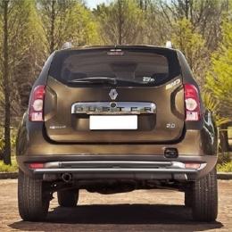 Защита заднего бампера для Renault Duster  двойная (d42/d42)