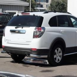 Защита заднего бампера для Chevrolet Captiva уголки (d57) -2014