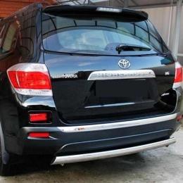 Защита заднего бампера для Toyota Highlander (d76)