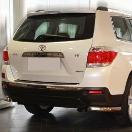 Защита заднего бампера для Toyota Highlander уголки (d57) (2014-)